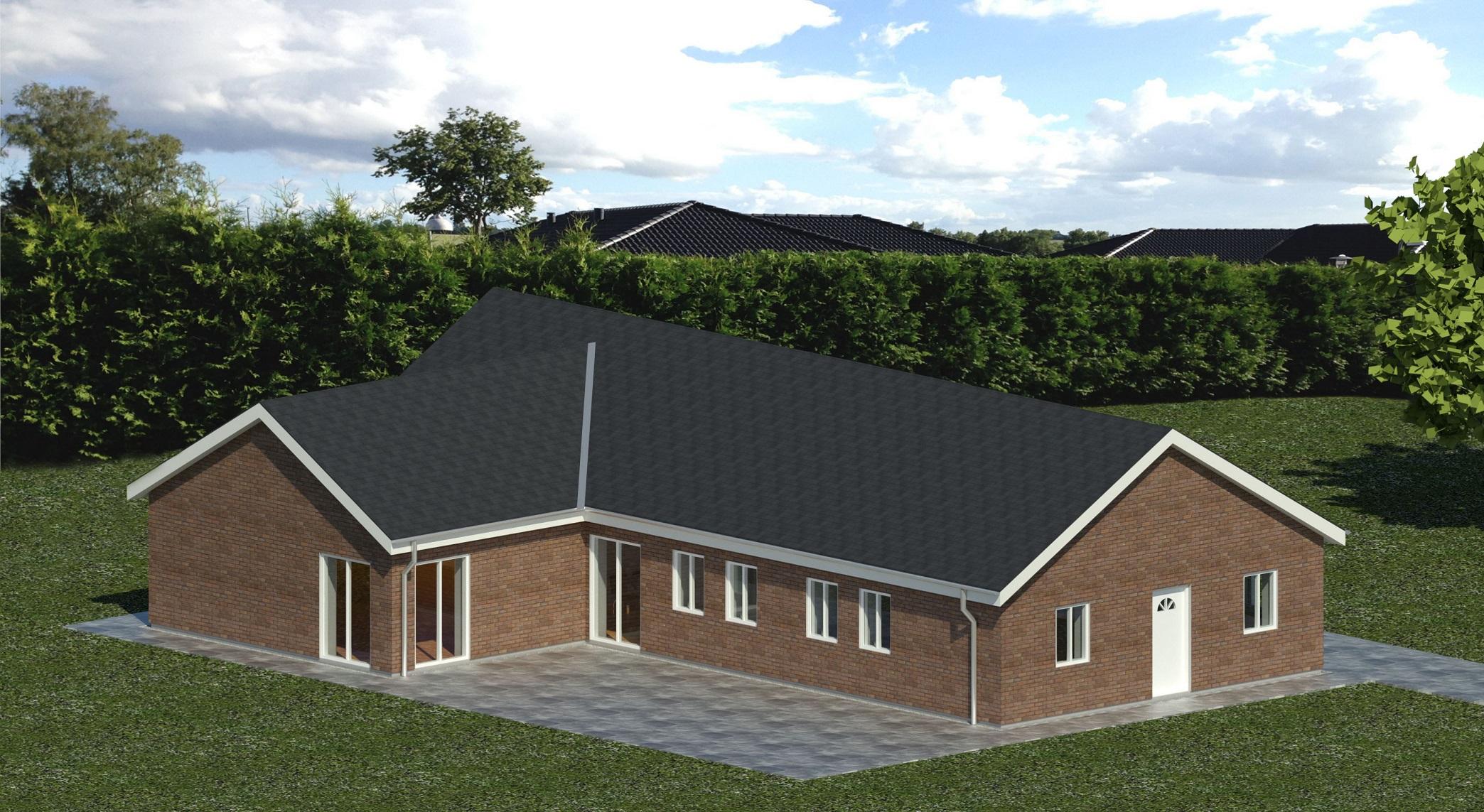3D Rendering hus bolig visuel grafisk