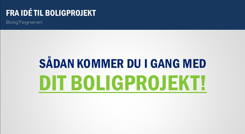 Sådan gør du kom i gang BoligProjekt BoligTegneren idé