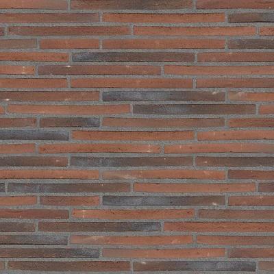 Mursten blødstrøgen lang format rødbrun med mørk grå fuge