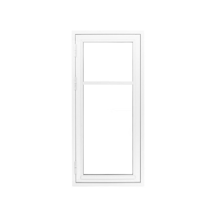 Oplukkelig vindue bondehusvindue 1 fag med sprosse hvid træ alu