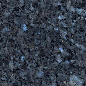 Massiv køkken bordplade i blå og sort granit sten