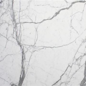 Massiv køkken bordplade i hvid marmor sten