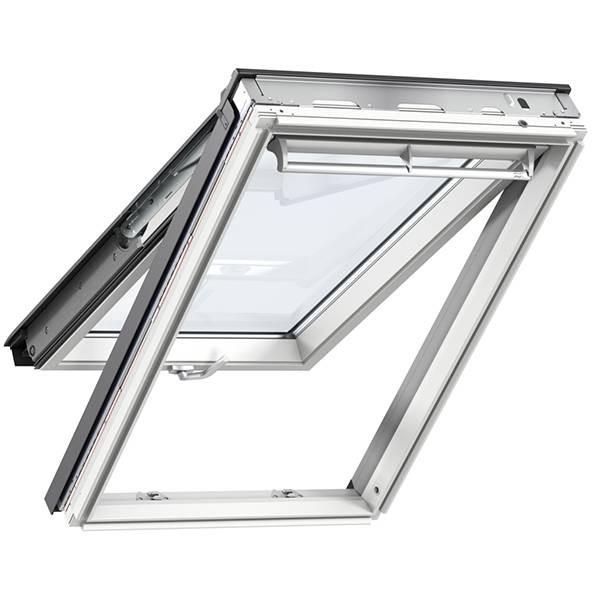 Velux tophængt oplukkelig enkelt vindue hvid alu