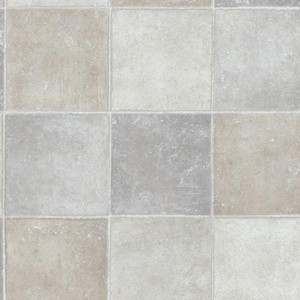 Vinyl gulv fliser grå beige look banevare