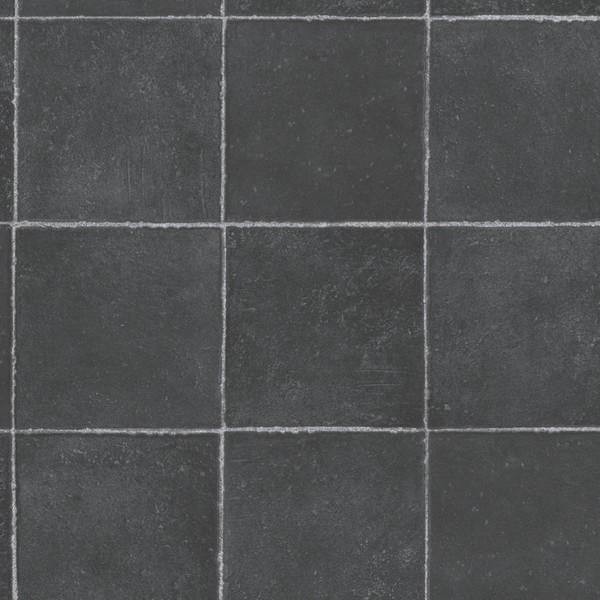 Vinyl gulv sort flise look banevare