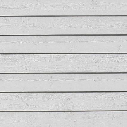 Hvidmalet træfacade